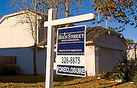 Economy woes of homes for sale in mortgage financial hard times foreclosure recession