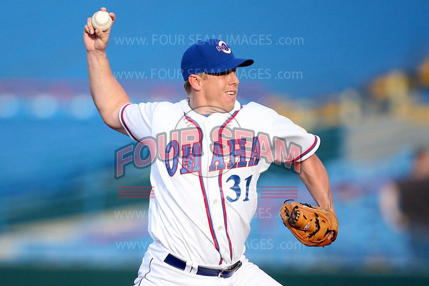 June 2, 2009: Brandon Duckworth (31) of the Omaha Royals at Rosenblatt Stadium in Omaha, NE.  Photo by: Chris Proctor/Four Seam Images