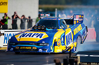 Aug 8, 2020; Clermont, Indiana, USA; NHRA funny car driver Ron Capps during qualifying for the Indy Nationals at Lucas Oil Raceway. Mandatory Credit: Mark J. Rebilas-USA TODAY Sports