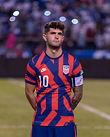 SAN PEDRO SULA, HONDURAS - SEPTEMBER 8: Christian Pulisic #10 of the United States stands on the field before a game between Honduras and USMNT at Estadio Olímpico Metropolitano on September 8, 2021 in San Pedro Sula, Honduras.