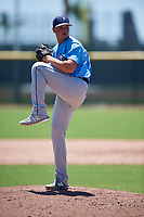 Tampa Bay Rays pitcher Zack Trageton (29) during a Minor League Extended Spring Training game against the Atlanta Braves on April 15, 2019 at CoolToday Park Training Complex in North Port, Florida.  (Mike Janes/Four Seam Images)