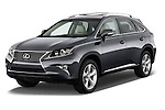 2015 Lexus RX 350 5 Door Suv 2WD Angular Front stock photos of front three quarter view