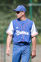 13 July 2010: Assistant coach Fabien Proust is seen during day 1 of the Open de Rouen, an international tournament with Team France, Team Saint Martin, Team All Star Elite, at Stade Pierre Rolland, in Rouen, France.