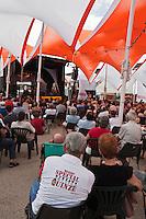 Europe/France/Midi-Pyrénées/32/Gers/Marciac:  le village pendant le Festival de jazz
