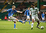 Celtic v St Johnstone.....04.03.15<br /> David Wotherspoon's shot is staright at Craig Gordon<br /> Picture by Graeme Hart.<br /> Copyright Perthshire Picture Agency<br /> Tel: 01738 623350  Mobile: 07990 594431