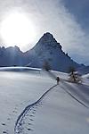 ski de randonnée dans les alpages de Clapeyto, vallée d'Arvieux