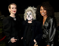 "LOS ANGELES - OCTOBER 26: (L-R) Sarah Paulson, Kathy Bates and Angela Bassett attend the red carpet event to celebrate 100 episodes of FX's ""American Horror Story"" at Hollywood Forever Cemetery on October 26, 2019 in Los Angeles, California. (Photo by John Salangsang/FX/PictureGroup)"