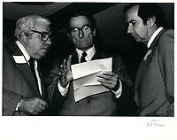 Claude Ryan le 8 avril 1974<br /> , durant la campagne a la chefferie du PLQ <br /> <br /> <br /> <br /> PHOTO :  Agence Quebec Presse