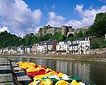 Belgium, Wallonia, Ardennes, Bouillon: Town and Castle at Semois River | Belgien, Wallonien, Ardennen, Bouillon: Stadt an der Semois mit Burg