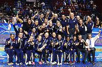 USA United States celebrate the victory <br /> World Champions <br /> Milano 12-10-2014 Forum Assago Mondiali <br /> Volley Women's World Championship Italy 2014 <br /> Foto Insidefoto