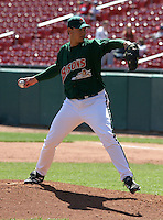 April 21, 2005:  Pitcher Andrew Brown of the Buffalo Bisons during a game at Dunn Tire Park in Buffalo, NY.  Buffalo is the International League Triple-A affiliate of the Cleveland Indians.  Photo by:  Mike Janes/Four Seam Images