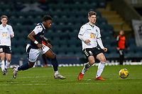 16th March 2021; Dens Park, Dundee, Scotland; Scottish Championship Football, Dundee FC versus Ayr United; Cammy Smith of Ayr United holds off Jonathan Afolabi of Dundee