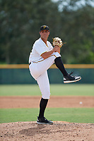 Pittsburgh Pirates pitcher Jake Brentz (56) delivers a pitch during an Instructional League game against the Detroit Tigers on October 6, 2017 at Pirate City in Bradenton, Florida.  (Mike Janes/Four Seam Images)