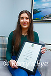 Laura Dwyer from Waterville receives the Jean Monnet Entrance Bursary from UL for European Studies.
