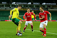 2nd January 2021; Carrow Road, Norwich, Norfolk, England, English Football League Championship Football, Norwich versus Barnsley; Kenny McLean of Norwich City takes on Herbie Kane of Barnsley