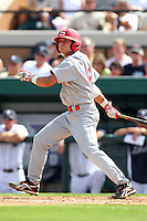 Florida Southern Jimmy Correnti #6 during a exhibition game vs. the Detroit Tigers at Joker Marchant Stadium in Lakeland, Florida;  February 25, 2011.  Detroit defeated Florida Southern 17-5.  Photo By Mike Janes/Four Seam Images