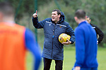 St Johnstone Training…04.09.19<br />Manager Tommy Wright pictured taking a training session at McDiarmid Park<br />Picture by Graeme Hart.<br />Copyright Perthshire Picture Agency<br />Tel: 01738 623350  Mobile: 07990 594431