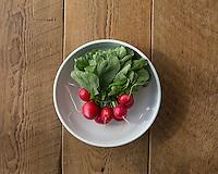 organic produce, radishes