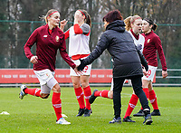 Lola Wajnblum (11 Standard) and Anne Radermacher of Standard during the warm up before a female soccer game between Standard Femina de Liege and RSC Anderlecht on the 9th matchday of the 2020 - 2021 season of Belgian Scooore Womens Super League , saturday 12 th of December 2020  in Angleur , Belgium . PHOTO SPORTPIX.BE   SPP   SEVIL OKTEM