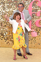 """Janette and Ian Tough (The Krankies)<br /> arrives for the World Premiere of """"Absolutely Fabulous: The Movie"""" at the Odeon Leicester Square, London.<br /> <br /> <br /> ©Ash Knotek  D3137  29/06/2016"""