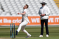 Jamie Porter of Essex in bowling action during Warwickshire CCC vs Essex CCC, LV Insurance County Championship Group 1 Cricket at Edgbaston Stadium on 23rd April 2021