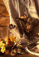 Gastronomie générale: Perdrix grise et fruits