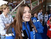 20180414 - AALTER , BELGIUM : Brugge's Sara Bakar pictured during the 21st matchday in the 2e Nationale Women's league , a womensoccer game between Club Brugge Dames and GFA Sinaai , in Aalter , saturday 15 th April 2018 . PHOTO SPORTPIX.BE   DAVID CATRY
