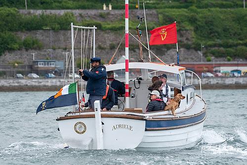 Admiral Colin Morehead on board RCYC club launch, Adriele