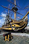 Great Britain, England, Hampshire, Portsmouth: HMS Victory, Admiral Lord Nelson's flagship during the Battle of Trafalgar in 1805   Grossbritannien, England, Hampshire, Portsmouth: HMS Victory, Admiral Lord Nelsons Flaggschiff waehrend der Schlacht von Trafalgar 1805