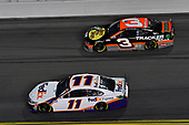 #11: Denny Hamlin, Joe Gibbs Racing, Toyota Camry FedEx Express, #3: Austin Dillon, Richard Childress Racing, Chevrolet Camaro Bass Pro Shops/Tracker OffRoad