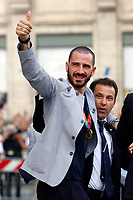 Leonardo Bonucci with the cup during the visit of the Italian National team at Palazzo Chigi, where the athletes met the Italian Premier after winning the UEFA Euro 2020 cup.<br /> Rome (Italy), July 12th 2021<br /> Photo Samantha Zucchi Insidefoto