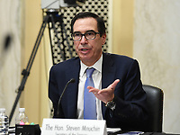 United States Secretary of the Treasury Steven Mnuchin testifies at the Senate Small Business and Entrepreneurship Hearings to examine implementation of Title I of the CARES Act on Capitol Hill in Washington, DC on Wednesday, June 10, 2020.    <br /> Credit: Kevin Dietsch / Pool via CNP/AdMedia