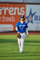 Andrew Shaps (17) of the Ogden Raptors during a game against the Idaho Falls Chukars at Lindquist Field on August 29, 2018 in Ogden, Utah. Idaho Falls defeated Ogden 15-6. (Stephen Smith/Four Seam Images)