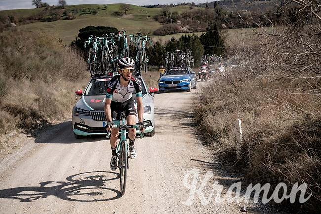 Simon Yates (GBR/Bike Exchange)<br /> <br /> 15th Strade Bianche 2021<br /> ME (1.UWT)<br /> 1 day race from Siena to Siena (ITA/184km)<br /> <br /> ©kramon