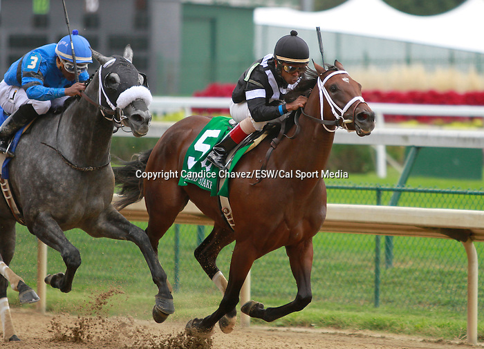 September 12, 2015:  Spelling Again and Shaun Bridgmohan win the 7th running of the Open Mind $100,000 for fillies and mares at Churchill Downs for trainer Brad Cox and owner Seajay Racing.  Candice Chavez/ESW/CSM