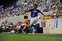 Mario Martinez (7) of Honduras during an international friendly between the men's national teams of Colombia (COL) and Honduras (HON) at Red Bull Arena in Harrison, NJ, on September 03, 2011.