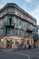 French Quarter, New Orleans, Louisiana.  Corner of St. Peter and Royal Streets.