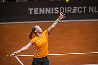 Den Bosch, The Netherlands, April 15, 2021,    Maaspoort, Billy Jean King Cup  Netherlands -  China : practice, Kiki Bertens (NED)<br /> Photo: Tennisimages/Henk Koster