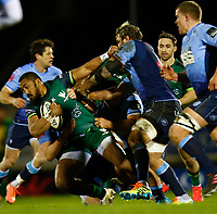 20th February 2021; Galway Sportsgrounds, Galway, Connacht, Ireland; Guinness Pro 14 Rugby, Connacht versus Cardiff Blues; Bundee Aki holds on to the ball for Connacht