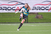 Goalkeeper Lisa Vandeputte (1) of Eendracht Aalst pictured during a female soccer game between Sporting Charleroi and Eendracht Aalst on the 8th matchday in play off 2 of the 2020 - 2021 season of Belgian Scooore Womens Super League , tuesday 18 th of May 2021 in Marcinelle , Belgium . PHOTO SPORTPIX.BE   SPP   STIJN AUDOOREN