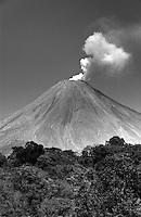 Volcan de Colima, Mexico (Black & White)