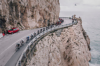 peloton passing the Mediteranian Sea<br /> <br /> 109th Milano-Sanremo 2018<br /> Milano > Sanremo (291km)