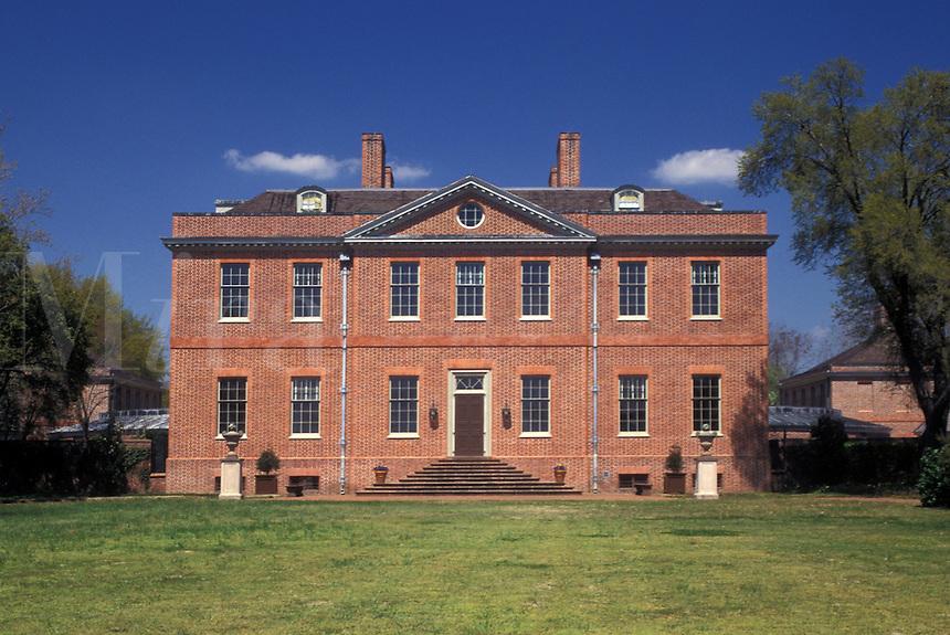 New Bern, Tyron Palace, NC, North Carolina, Tyron Palace at Tyron Palace Historic Sites and Gardens in New Bern.