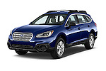 2015 Subaru Outback 2.5i CVT 4 Door Wagon Angular Front stock photos of front three quarter view