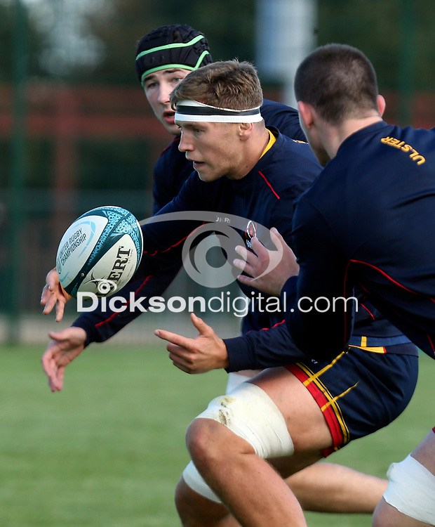Tuesday 5th October 2021<br /> <br /> Matty Rea during Ulster Rugby training at Newforge Country Club, Belfast, Northern Ireland. Photo by John Dickson/Dicksondigital