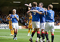 RANGERS' STEVEN NAISMITH STOPS NIKICA JELAVIC CELEBRATION CLAIMING HE SCORED RANGERS' FIRST