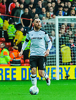 Derby County's defender Richard Keogh (6) during the Sky Bet Championship match between Nottingham Forest and Derby County at the City Ground, Nottingham, England on 10 March 2018. Photo by Stephen Buckley / PRiME Media Images.