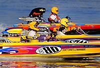 Nov. 22, 2008; Chandler, AZ, USA; IHBA super stock circle boats race during the Napa Auto Parts World Finals at Firebird Lake. Mandatory Credit: Mark J. Rebilas-