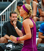 Paris, France, 02 June, 2018, Tennis, French Open, Roland Garros, Kiki Bertens (NED) reacts, in te background her coach Raemon Sluiter<br /> Photo: Henk Koster/tennisimages.com