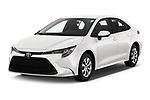 2020 Toyota Corolla LE 4 Door Sedan Angular Front stock photos of front three quarter view
